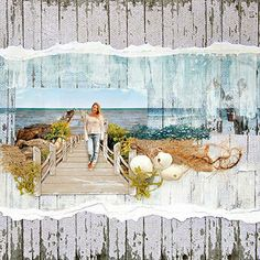 At the Pier #scrapbook #layout
