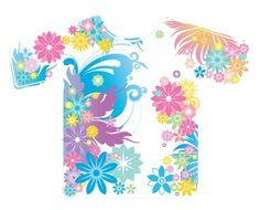 Flower T-Shirt Illustration Vector File Free download
