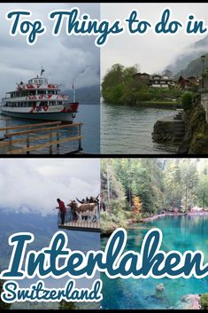Discover the best things to do in Interlaken, the beautiful resort town in Switzerland. The town is a perfect base to explore the surreal picturesque locations of Bernese Oberland and the gorgeous lakes of Thun and Brienz [. Europe Travel Tips, European Travel, Travel Guides, Swiss Travel, Travel Plan, Bucket List Destinations, Travel Destinations, Stuff To Do, Things To Do