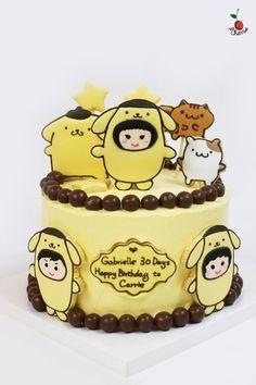 Pom Pom Purin~ With the family dress like Pom Pom Purin Also make the cake look like a pudding!