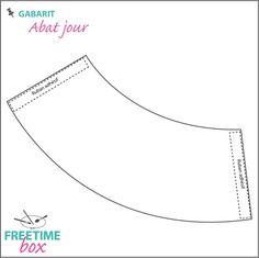 Patron des petits abat jour en papier sur verres pied for Realiser un abat jour en tissu