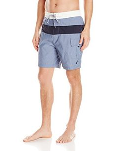 Introducing Nautica Mens QuickDry Chm ColorBlock Swim Trunk Heirloom Chambray XXLarge. Great Product and follow us to get more updates!