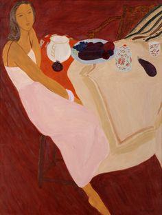 Pierre Boncompain   La robe rose, Oil on Canvas