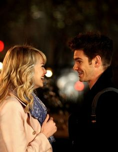Emms Stone and Andrew Garfield