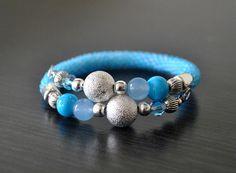 beaded bracelet, blue bracelet