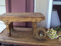 Primitive stool for the cottage!