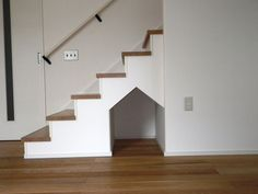 Japanese Modern, Animal Room, Under Stairs, Kid Spaces, Stair Idea, Living Room, Architecture, Storage, Interior