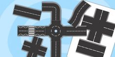 Printable Roads - road, transport, classroom display, role play