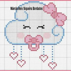 cristiane Schornak's media content and analytics Cross Stitching, Cross Stitch Embroidery, Hand Embroidery, Cross Stitch Patterns, Knitting Charts, Baby Knitting, Loom Patterns, Beading Patterns, Baby Motiv