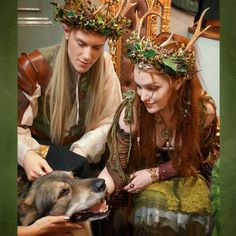 """Here's a throwback to the time  @ian_hencher @thevikingqueen  #LoveYouToBitsAndPieces and I got to pet a real wolf whilst appearing at @faemagazine's…"""