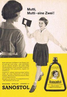 Sanostol Vitamine Reklame 1962