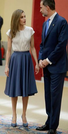 16 June 2017 - Queen Letizia and King Felipe meet with the members of FPA