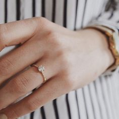 "1,457 Likes, 88 Comments - Anna Sheffield (@annasheffield) on Instagram: ""A Saturday dose of Stripes and #ChampagneDiamonds in this lovely regram of the #Hazeline #solitaire…"""