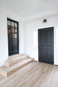 Favorite Neutral Paint Colors in Our Homes interior doors painted in tricorn black - Door Interior Door Colors, Painted Interior Doors, Black Interior Doors, Door Paint Colors, Neutral Paint Colors, Painted Doors, Interior Paint, Paint Doors Black, Interior Design