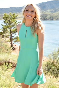 Star Struck Flare Dress Jade