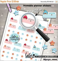 60%OFF - School Stickers, Printable Planner Stickers, Lesson Stickers, College Stickers, Labels School, Kawaii Stickers, Planner Accessories