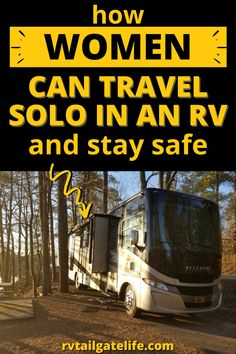 Ladies, you too can travel solo in an RV! Don't let friends, family, or internet message boards scare you! Follow these tips and advice from a fellow solo woman on the road! Doesn't matter if you have a large Class A motorhome or a small trailer or van. Join with other females on the road! Rv Travel, Travel Info, Travel Tips, Camping Solo, Rv Camping, Rv Campgrounds, Small Trailer, Diy Rv, Rv Tips