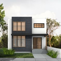 Type: Two Storey Bedrooms: 3 Baths: Areas: * Floor: 1044 sq ft * Floor: 1014 sq ft * Total Living Area: 2058 sq ft Width: Depth: House Front Design, Small House Design, Modern House Design, Modern House Plans, Small House Plans, Two Storey House Plans, 3 Storey House, Casas The Sims 4, Boho Home
