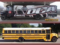 Check out this super cool bus wrap from Monster Graphx. www.monster-graphx.com  Materials used: 3M 480C and 8548