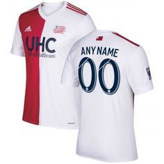 f0712329d8b8c8 Men's New England Revolution Red/White 2017 Secondary Custom Jersey