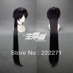 Free Track Anime 100cm X Long MAGI Sinbad Dark Purple Cosplay wig  Costume Heat Resistant + CAP