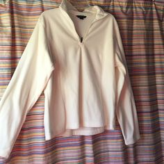 NWOT Cream Colored Lands End Fleece Size Large Never worn, new without tags, cream colored fleece from Lands End. Size large (14-16). Super soft and comfy! Perfect for cold spring nights! Lands' End Tops Sweatshirts & Hoodies