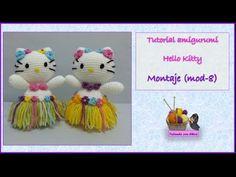 Tutorial amigurumi Hello Kitty - Montaje (mod-8) - YouTube