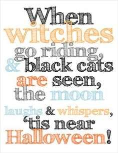 When witches go riding.....