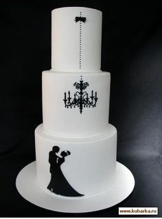 Just beautiful for black and white themed wedding