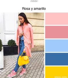 rosa y amarillo