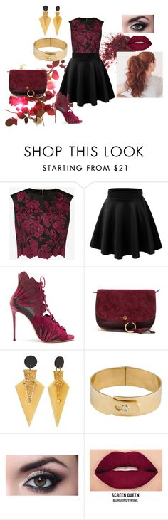 Bordeaux by iconsstyle on Polyvore featuring Ted Baker, Casadei, Chloé and Smashbox