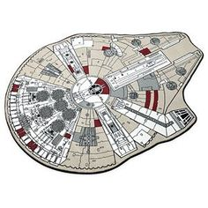 When Lando lost the Falcon in a game of sabacc, he missed it so much he had this rug made.