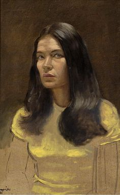 Yannis Tsarouchis, portrait of Greek film and stage actress Tzeni Karezi (Greek: Τζένη Καρέζη, also known as Jenny Karezi) Vincent Van Gogh, Greece Painting, Art Of Man, 10 Picture, Greek Art, Paintings I Love, Portrait Art, Portraits, Color Of Life