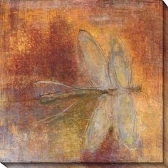 Bring an ascetically appealing look to any wall of your home with this oversize giclee canvas. 'Dragonfly II' features a dragonfly in an abstract design with brown and gold hues, adding a whimsical focal point that's sure to delight your guests.