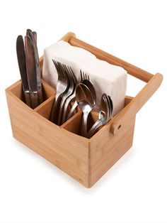 wooden cutlery caddies - Google Search                                                                                                                                                                                 More