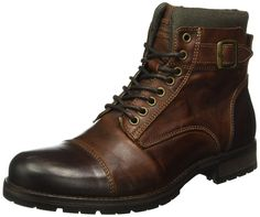 Jack & Jones Men's Albany Ankle Boots Bike Boots, Motorcycle Boots, Combat Boots, Ankle Boots For Men, Men's Boots, Leather Men, Leather Boots, Mens Winter Boots, Casual Wear For Men