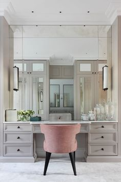 beautiful dream closet makeover in your dressing room 16 Bedroom Closet Design, Closet Designs, Dressing Table Design, Built In Dressing Table, Dressing Tables, Dressing Room Closet, Wardrobe Room, Design Living Room, Vanity Room