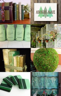 Green Home  by Tom and Theresa on Etsy--Pinned+with+TreasuryPin.com