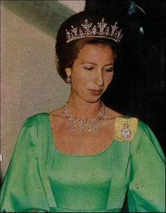 Princess Anne, festoon tiara, 1970s