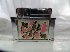 Vintage Cigarette Lighter with Ornate Floral Enamel Rogers Made in Japan | eBay