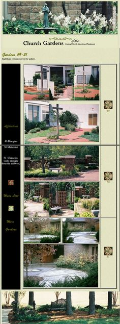 Church Gardens of the Carolina Piedmont: Another page from former website, re-assembled Gardens, Landscape, Website, Scenery, Outdoor Gardens, Corner Landscaping, Garden, House Gardens