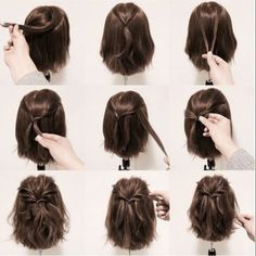 Short Hairdos For Prom 2018 frisuren frauen frisuren männer hair hair styles hair women Prom Hairstyles For Short Hair, Diy Hairstyles, Ideas For Short Hair, Buns For Short Hair, Wedding Hairstyles For Short Hair, Hair For Prom, Simple Hairstyles For Medium Hair, Shoulder Length Hairstyles, Short Hair Updo Easy