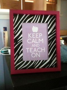 Monday Made It! - Tales Of A First Year Teacher Love the sign! Possibly will make for my desk next year!