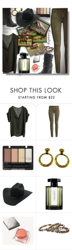 """""""Country Farm Style - Contest!!!"""" by sarahguo ❤ liked on Polyvore featuring Graumann, H&M, MIA, Chanel, L'Artisan Parfumeur, Burberry, Waxing Poetic and country"""