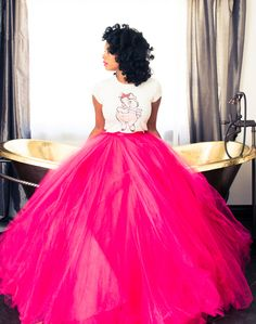 Kelis wearing our Hot Pink Tulle Floor Length Tutu get if at http://www.tutusforwomen.com  MORE COLORS AVAIL
