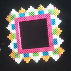 Photo frame perler beads by l_a_perler_beads