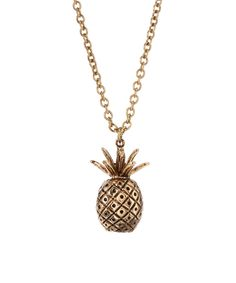 Another great find on #zulily! Frankie & Stein Goldtone Pineapple Pendant Necklace by Frankie & Stein #zulilyfinds