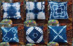5Pc Lot Indigo Tiedye Cushion Cover Shibori Pillows Decorative Throw Pillow Case #DVK #ArtsCrafts