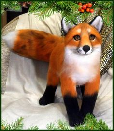 fox, felted red fox, fox artist, realistic fox, one of a kind, (20 in) fox bear  #Inasinglecopy #Foranyoccasion