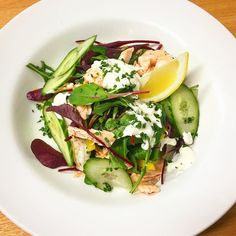 A nice summery poached salmon and king prawn salad to get you through this wintery week Prawn Salad, Cobb Salad, Poached Salmon, Cronut, Diet Recipes, Healthy Recipes, Healthy Dishes, Diet And Nutrition, Marie Claire